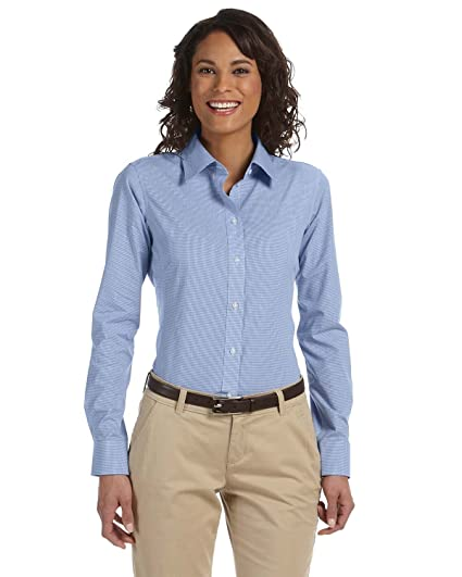 7e160e2eec7 Chestnut Hill Women s Long Sleeve Executive Performance Broadcloth Button  Down Dress Shirt (CH600W) at Amazon Women s Clothing store