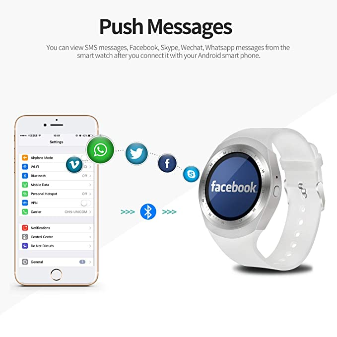 Amazon.com: SEPVER Smart Watch SN05 Smartwatch Round Wrist Sport Watch with SIM Card Slot Touch Screen Camera Compatible with Samsung Huawei Xiaomi Sony LG ...