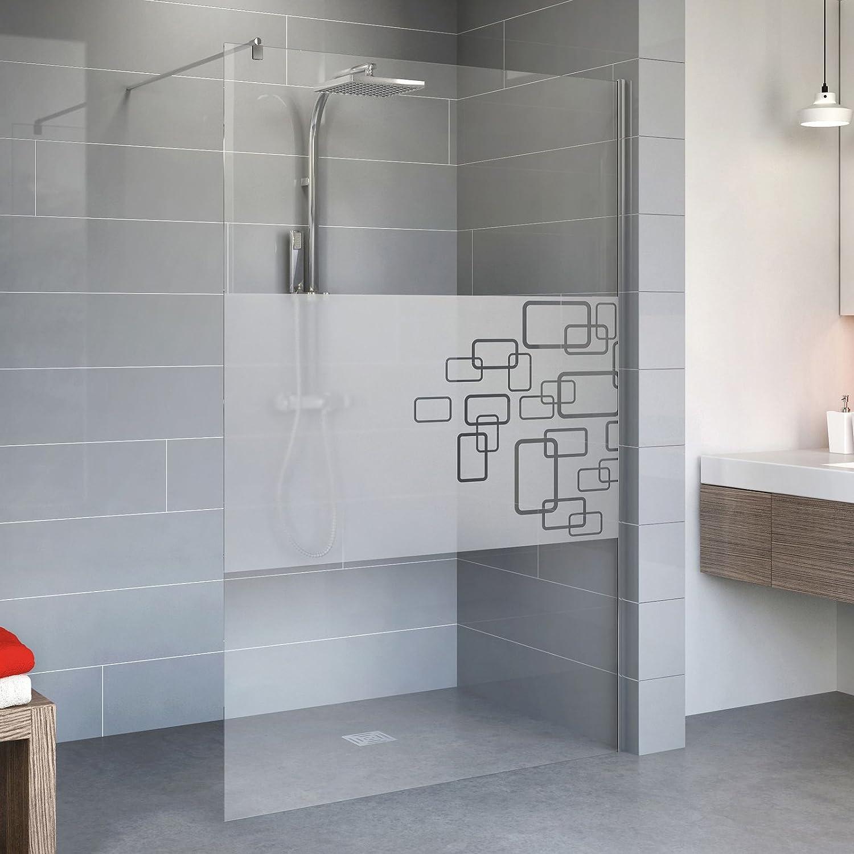 Schulte Duschwand Dusche Walk In 90x190 cm Duschkabine Aachen 5 mm Sicherheitsglas Dekor Circular Profile chrom 1 Stück Amazon