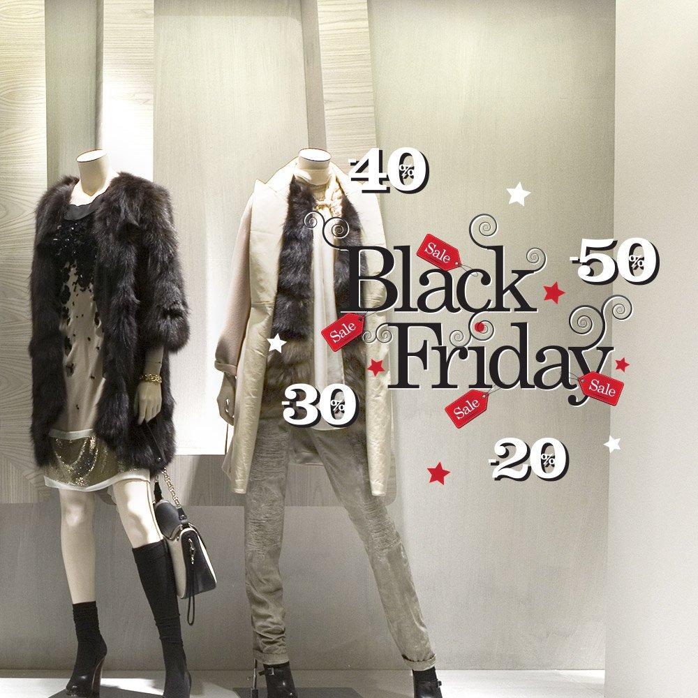 wall art UVBF0005 Vetrofanie Black Friday, adesivi per vetrine negozi promozioni,Vetrofanie, adesivi, Adesivi Murali - Misura 40x30 cm