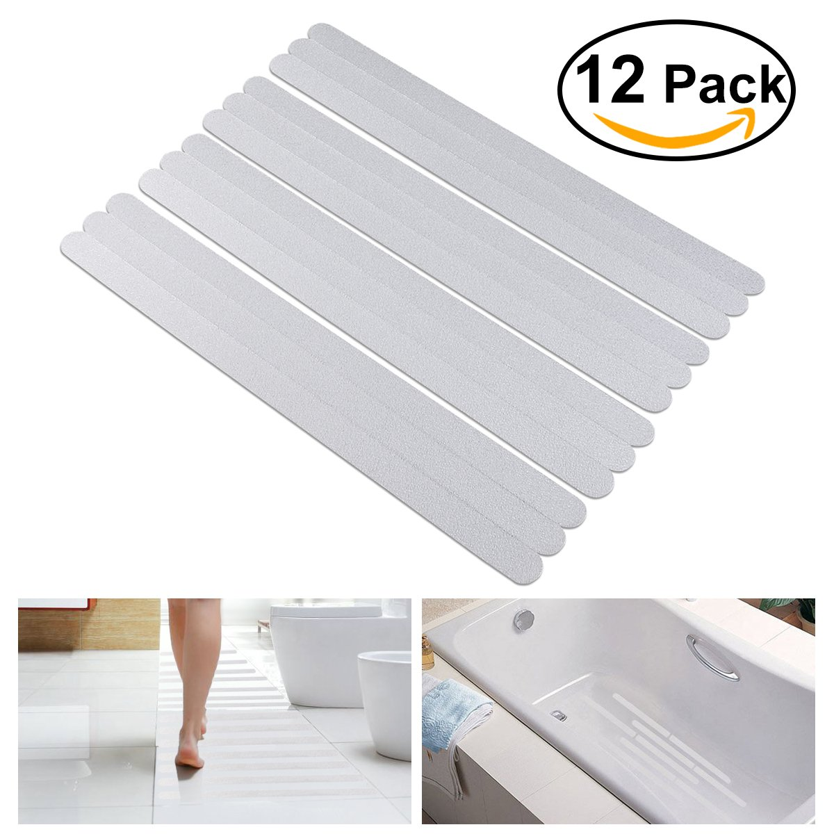 non anti slip resistant shower bath tub bathtub stickers shower treads adhesive 190657144797 ebay. Black Bedroom Furniture Sets. Home Design Ideas
