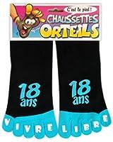 Chaussettes orteils 18 ans noir/bleu