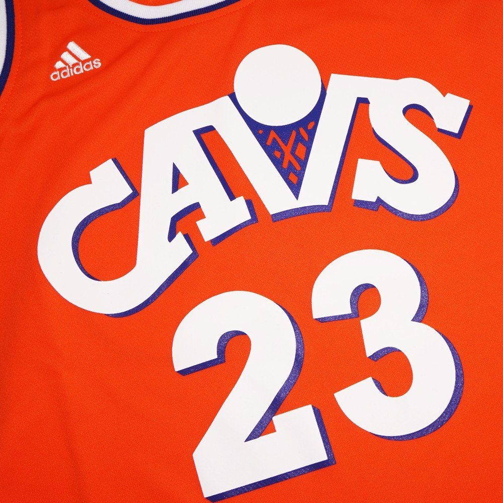 375792b76fe Amazon.com : LeBron James Cleveland Cavaliers NBA Adidas Orange Official Hardwood  Classics Throwback Replica Jersey For Women (S) : Sports & Outdoors