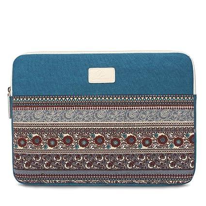 ColorYan Funda para Ordenadores Portátiles Mujeres Hombres Vintage Étnico Floral Azteca Patrón Laptop Funda Funda Tablet