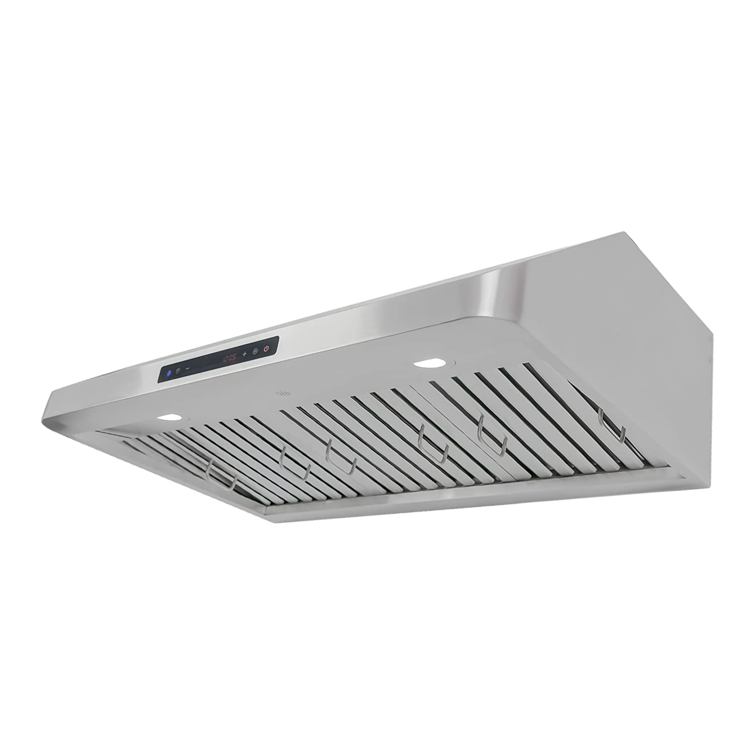 Cosmo QS90 36-in Under-Cabinet RangeHood 900-CFM Ducted Ductless Convertible Duct , Wireless Kitchen Stove Vent with LED Light , 4 Speed Exhaust , Fan Timer, Permanent-Filter Stainless Steel
