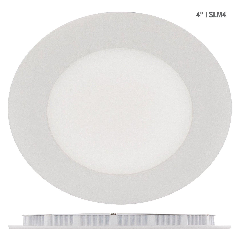 4' Round LED Slim Profile Recess Retrofit, 9W, 3000K Warm White, Airtight (White) Liteline