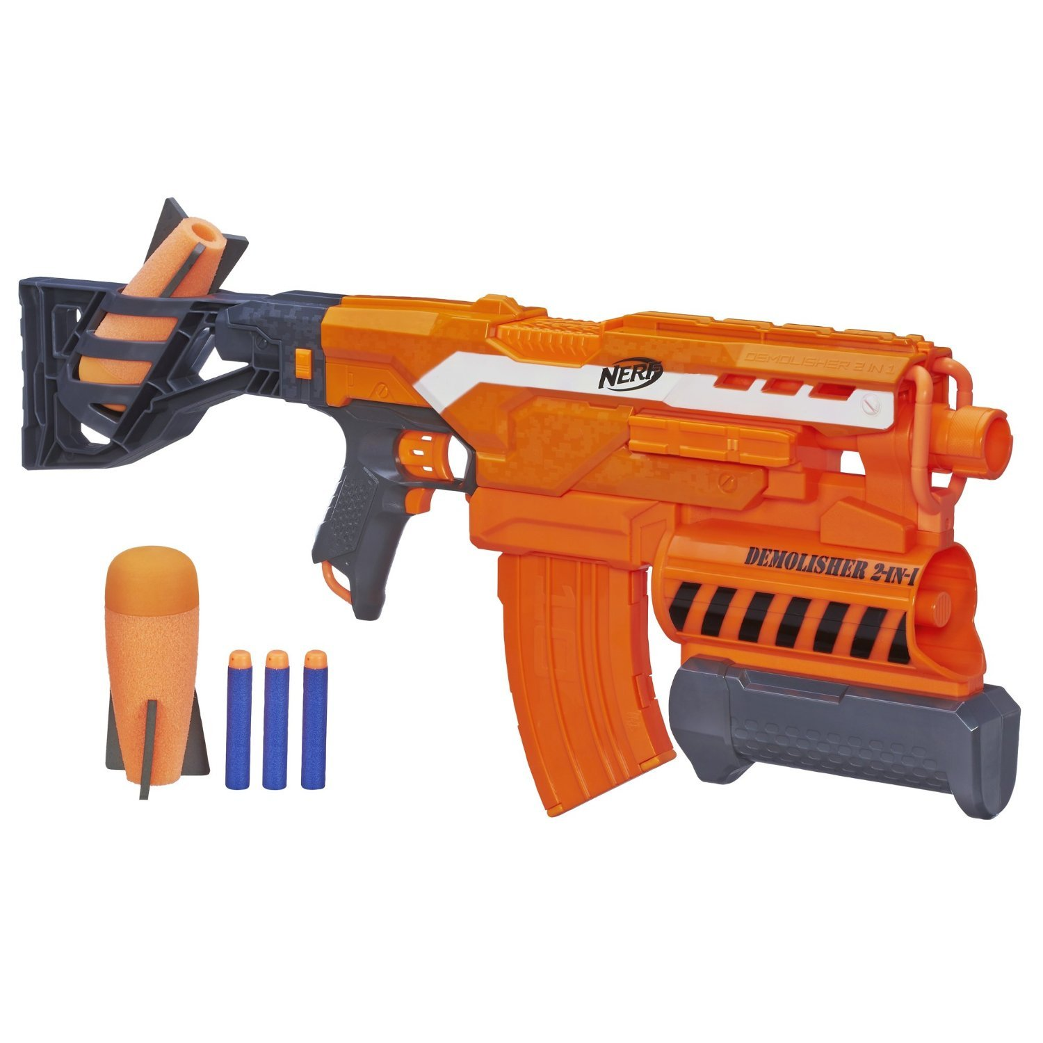 Nerf N strike Elite Demolisher 2 in 1 Blaster with Extra clip and 10 Extra Darts by Nerf (Image #2)