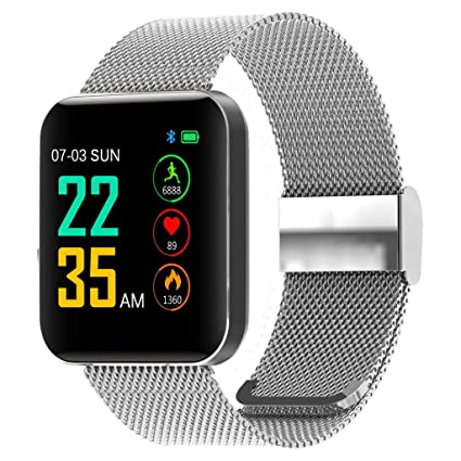 TianranRT - Reloj inteligente de pulsera para niños y mujeres, 1,54 pulgadas, Plateado