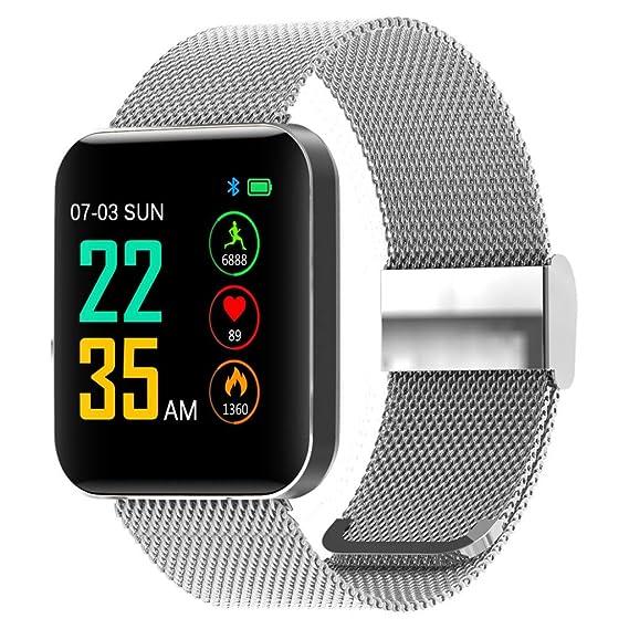 TianranRT - Reloj inteligente de pulsera para niños y mujeres, 1,54 pulgadas, Plateado: Amazon.es: Bricolaje y herramientas