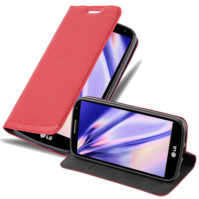 Cadorabo Funda Libro para LG G2 Mini en Rojo Manzana – Cubierta Proteccíon con Cierre Magnético, Tarjetero y Función de Suporte – Etui Case Cover ...