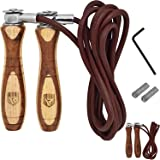 RDX Adjustable Leather Gym Skipping Jump Speed Rope Weighted Fitness Training Workout Exercise