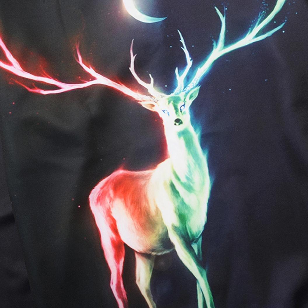 IEason Men Top Men Printed Christmas Deer Long Sleeve Loose Blouse Casual Tops
