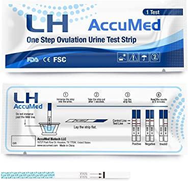 50 Count LH Clear and Accurate Results AccuMed Ovulation Over 99/% Accurate Test Strips Kit