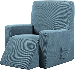AILY Recliner Cover Knitted Jacquard Spandex Sofa Slipcover Stay in Place Rich Furniture Skid Resistance Cover Protector,9