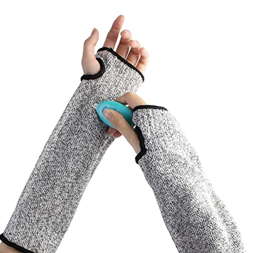 Amazon com: Cut Resistant Sleeves with Thumb Hole, Cut