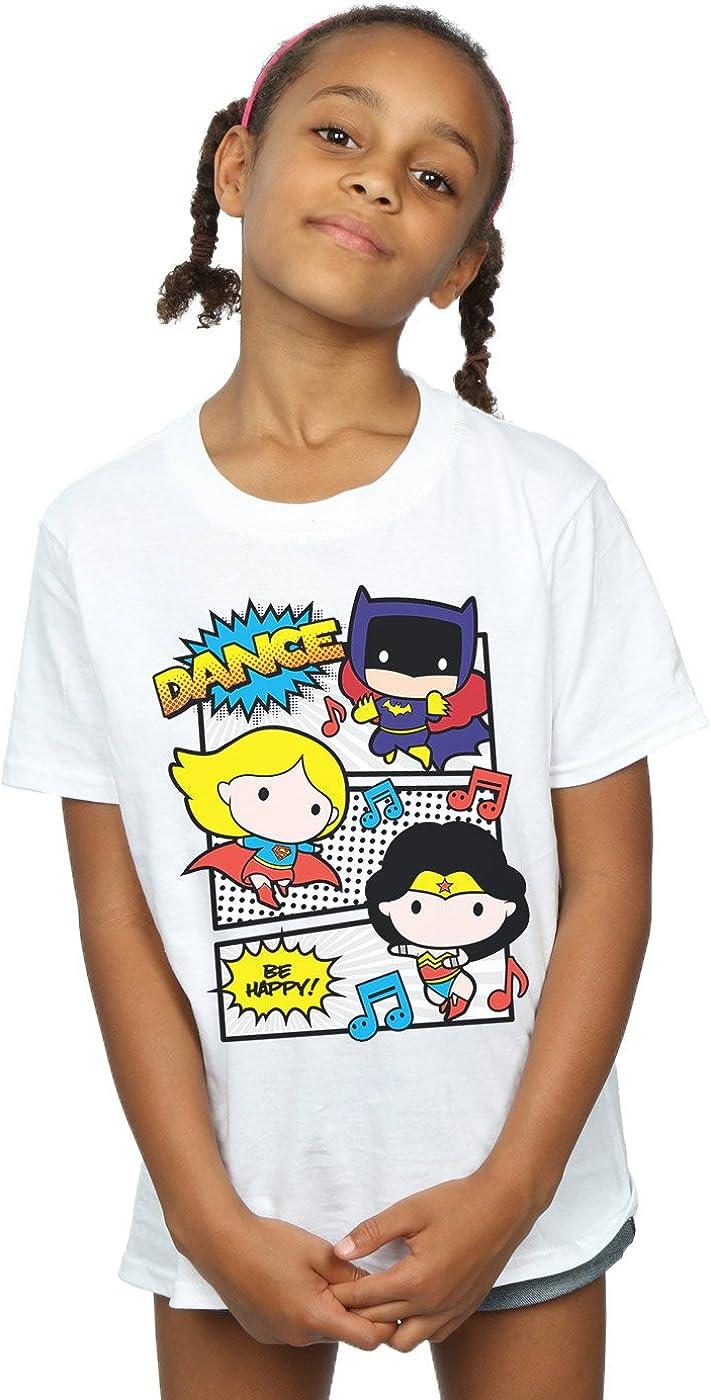 DC Comics ni/ñas Chibi Super Friends Dance Camiseta