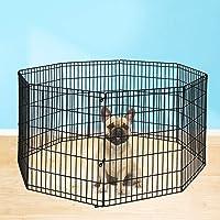 "PaWz Pet Dog Playpen Puppy Exercise 8 Panel Fence Black Extension No Door 30"" 30""(61x76cm) Extension Panel"