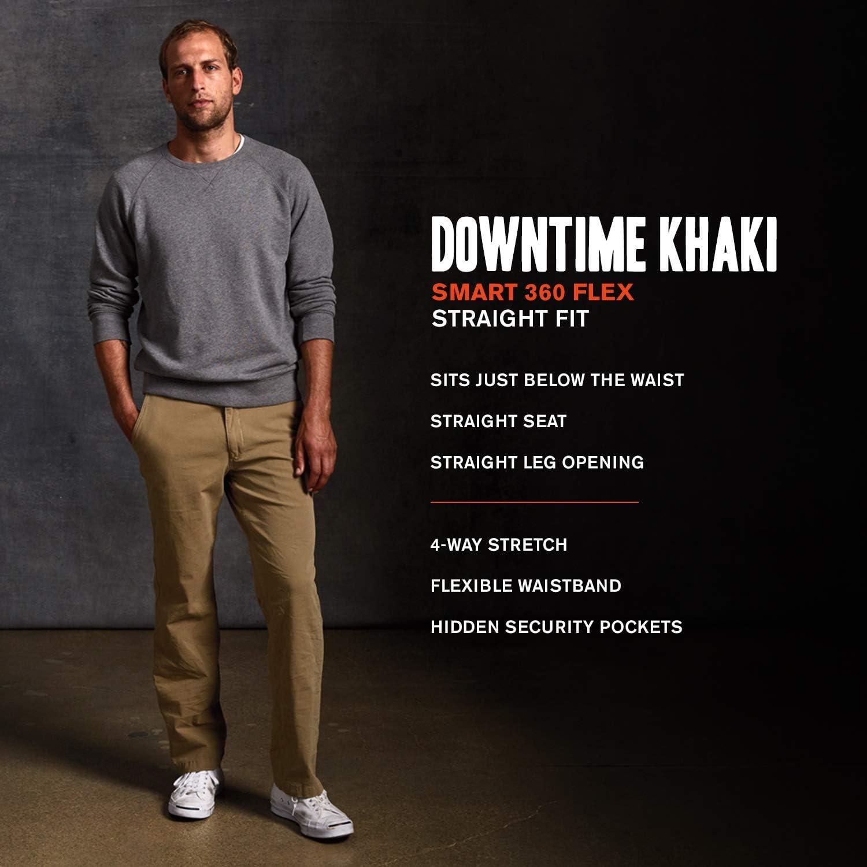 Dockers Mens Straight Fit Downtime Khaki Smart 360 Flex Pants
