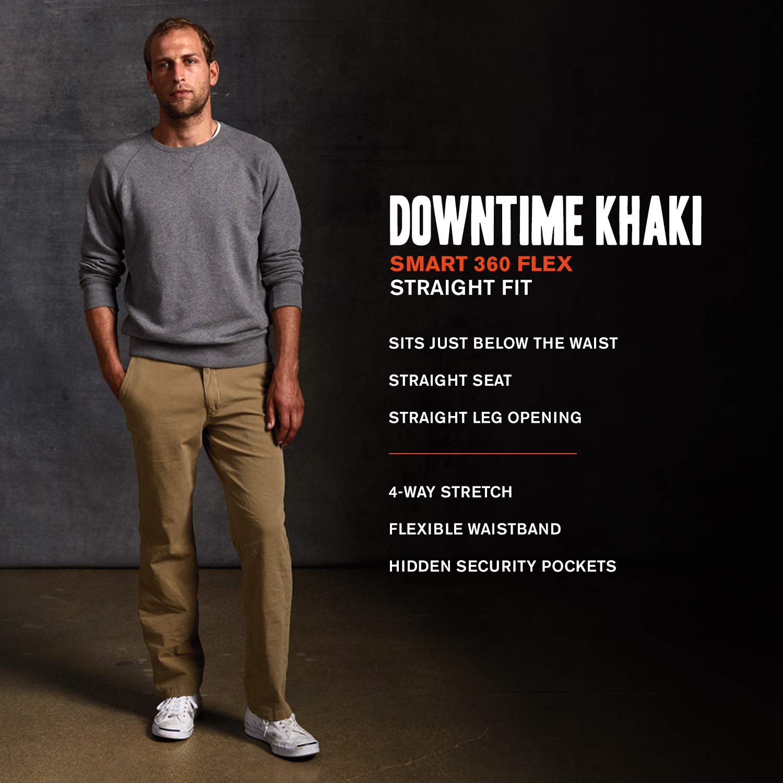 50-70%off good out x quality products Dockers Men's Straight Fit Downtime Khaki Smart 360 Flex Pants D2