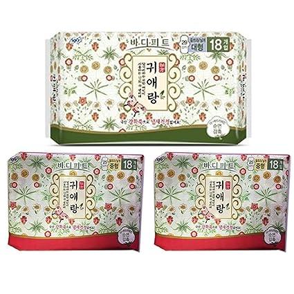 KS Sofy Body Fit Guierang Corea de hierbas Sanitaria Pads 18Ea (Grande 29cm) X