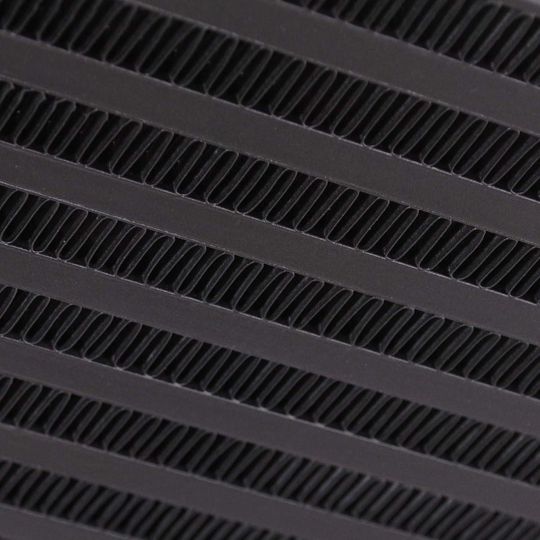 Kit de intercooler de montaje frontal de aleaci/ón de aluminio negro