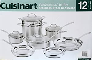4CA0575 - Cuisinart MultiClad Pro Triple Ply Stainless 12-Piece Cookware Set