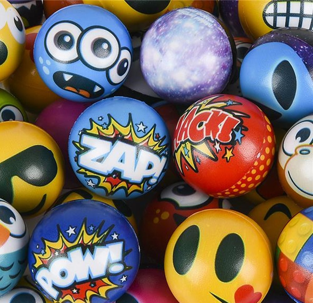 happy deals Stress Balls Bulk Value Assortment (100 Pack) Stress Relax Toy Balls, Ball Assortment
