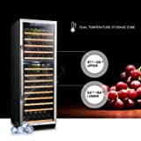 Lanbo Dual Zone Compressor Red Wine Cooler with