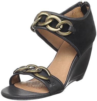 a3ae690863 Amazon.com | Corso Como Women's Belinda Wedge Sandal, Black Kid ...