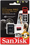 【JNH独自5年保証】microSDXC 256GB SanDisk Extreme PRO UHS-1 U3 V30 4K Ultra HD アプリ最適化 A2対応 SDアダプター付 [並行輸入品]
