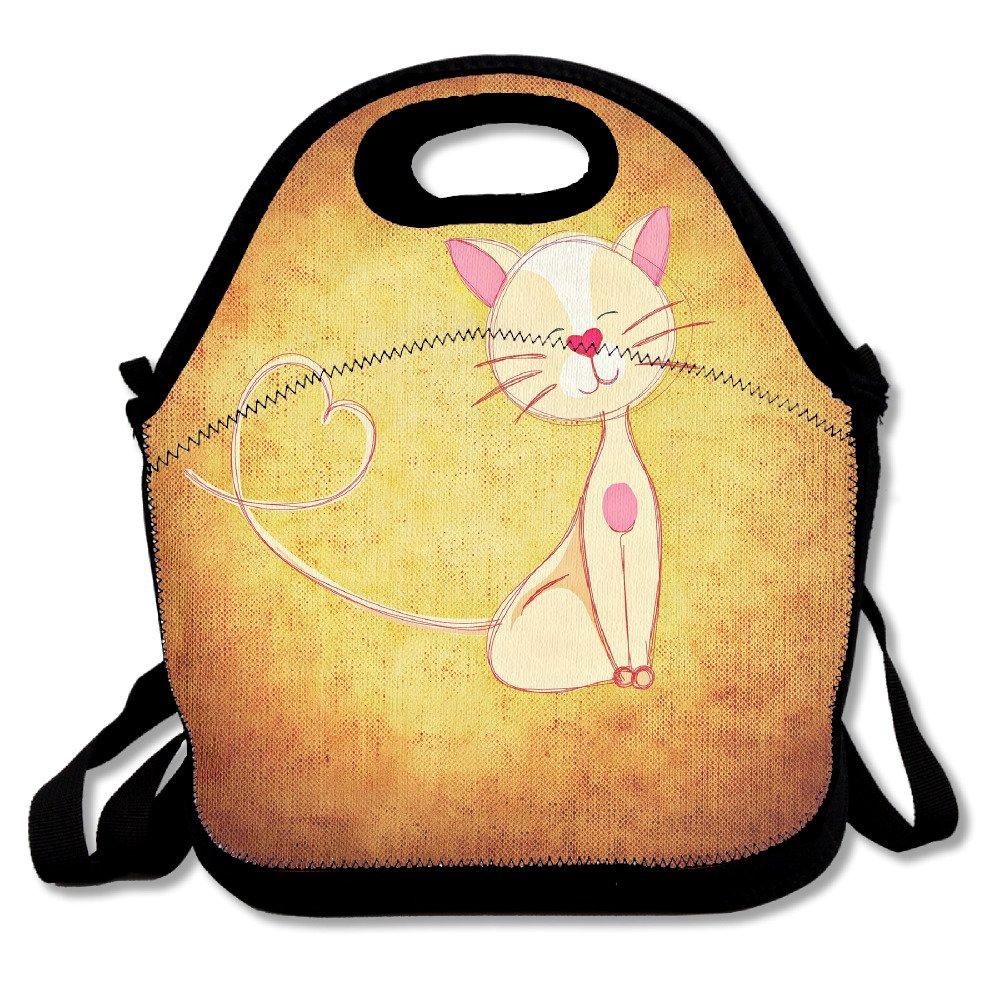 kkwodwcx Lovely Cat de cómic con aislamiento bolsa para el ...