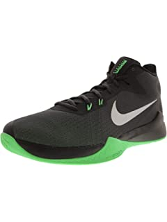 Nike Men s Zoom DEVOSION Wht Metallic Slvr-Blk Basketball Shoes-10 ... 4d0aa19fb