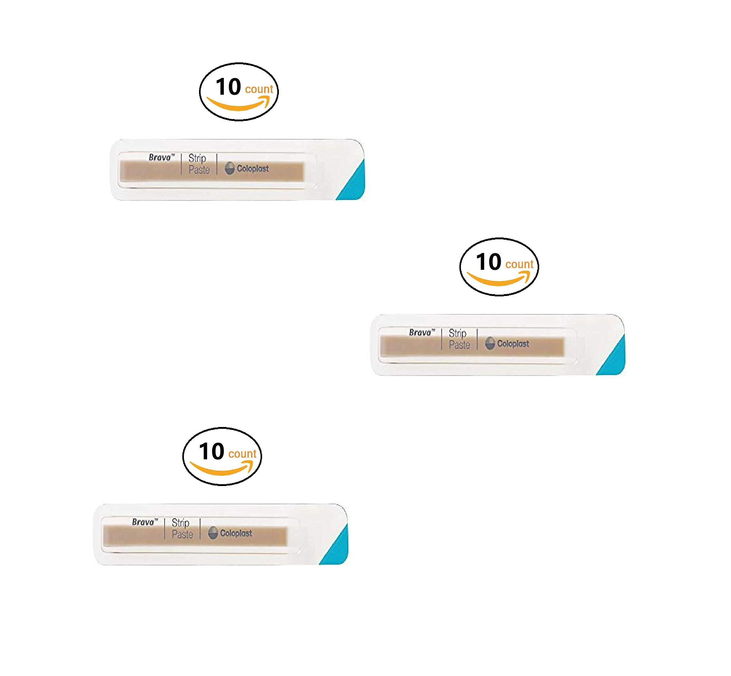 Brava Ostomy Strip Paste, Sting-Free, 0.2 Oz Per Strip 2 Oz Total Per Pack) 26555 (3 Pack (10 Count)