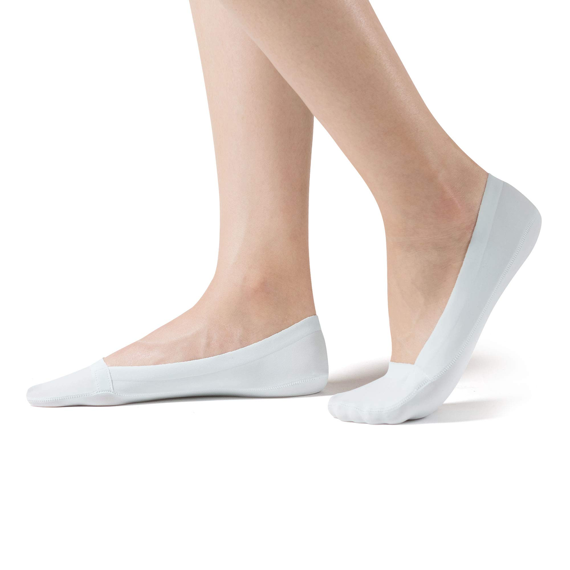 SHEEC SoleHugger InvisiCool - Women's No-Show Moisture Wicking Breathable Boat Sock - Aqua Small 4 Pair Pack - New Version by Sheec