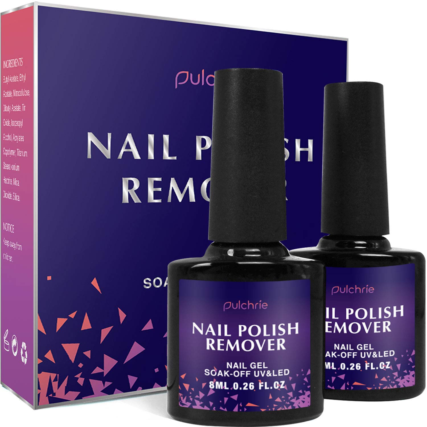 Pulchrie Magic Nail Polish Remover 2 Pcs Professional Removes Soak-Off Gel Nail Polish S1 by Pulchrie