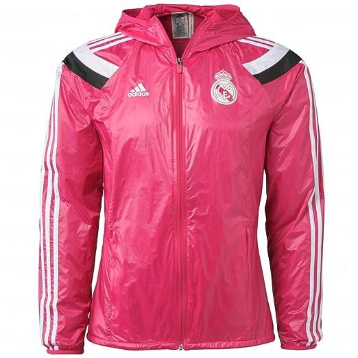 adidas Real Madrid FC Pink Windbreaker Jacket New With Tags at ... f8912cb31
