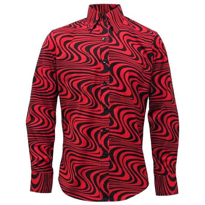 Vintage Shirts – Mens – Retro Shirts Chenaski Mens 70s Wavyline Retro Shirt $49.95 AT vintagedancer.com