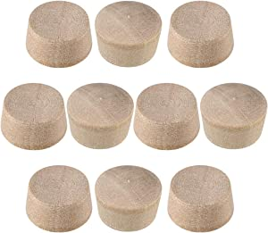 uxcell Wood Button Top Plugs 1/2 Inch Cherry Hardwood Furniture Plugs 9/25 Inch Height 200 Pcs