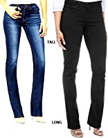 Women's Plus Size Tall Bootcut Jeans With Invisible Stretch
