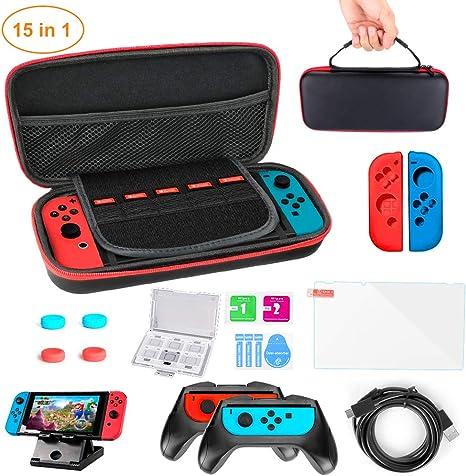 Funda para Nintendo Switch Lite 15 en 1 Kit de accesorios NS Lite ...