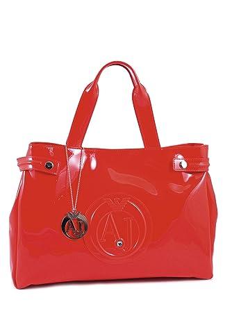 96ad2332f2f0 Armani Jeans - Sac Vernis Femme 05291 55 - A4 Rosso Red - Tu  Amazon.fr   Vêtements et accessoires