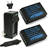 Wasabi Power Battery (2-Pack) and Charger for Canon LP-E12 and Canon EOS M EOS Rebel SL1 EOS 100D