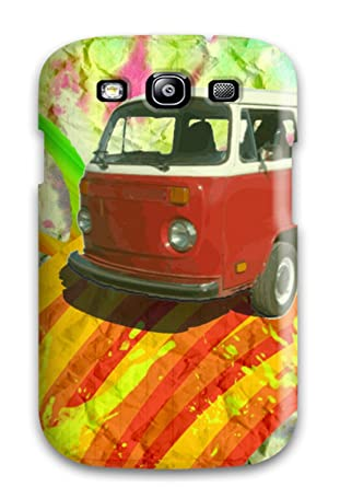 Amazon.com: New Arrival Galaxy S3 Case Beautiful Hippie Bus ...