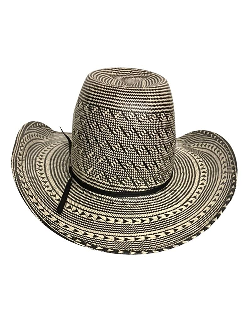 American Cowboy Hat Mens Straw Cool Hand Luke Black White 6210S-CHL
