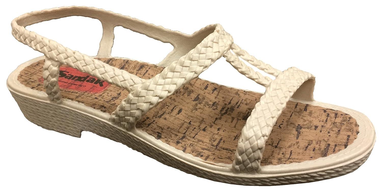 Sandak Sandals Marilu Women's Sandal - Comfortable, Waterproof, Washable, Lightweight, Classic Design Summer Sandals
