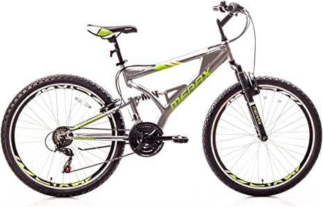 "Merax Falcon Full Suspension Mountain Bike Aluminum Frame 21-Speed 26"" Bicycle"