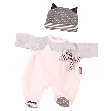 Götz 3402837 Kombination Cosy Cat - Puppenbekleidung Gr. S - 2-teiliges Bekleidungs- und Zubehörset für Babypuppen von 30 - 3