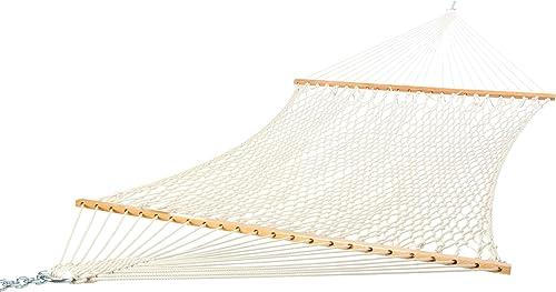 Castaway Hammocks Texas Size Extra Long Double Cotton Rope Hammock