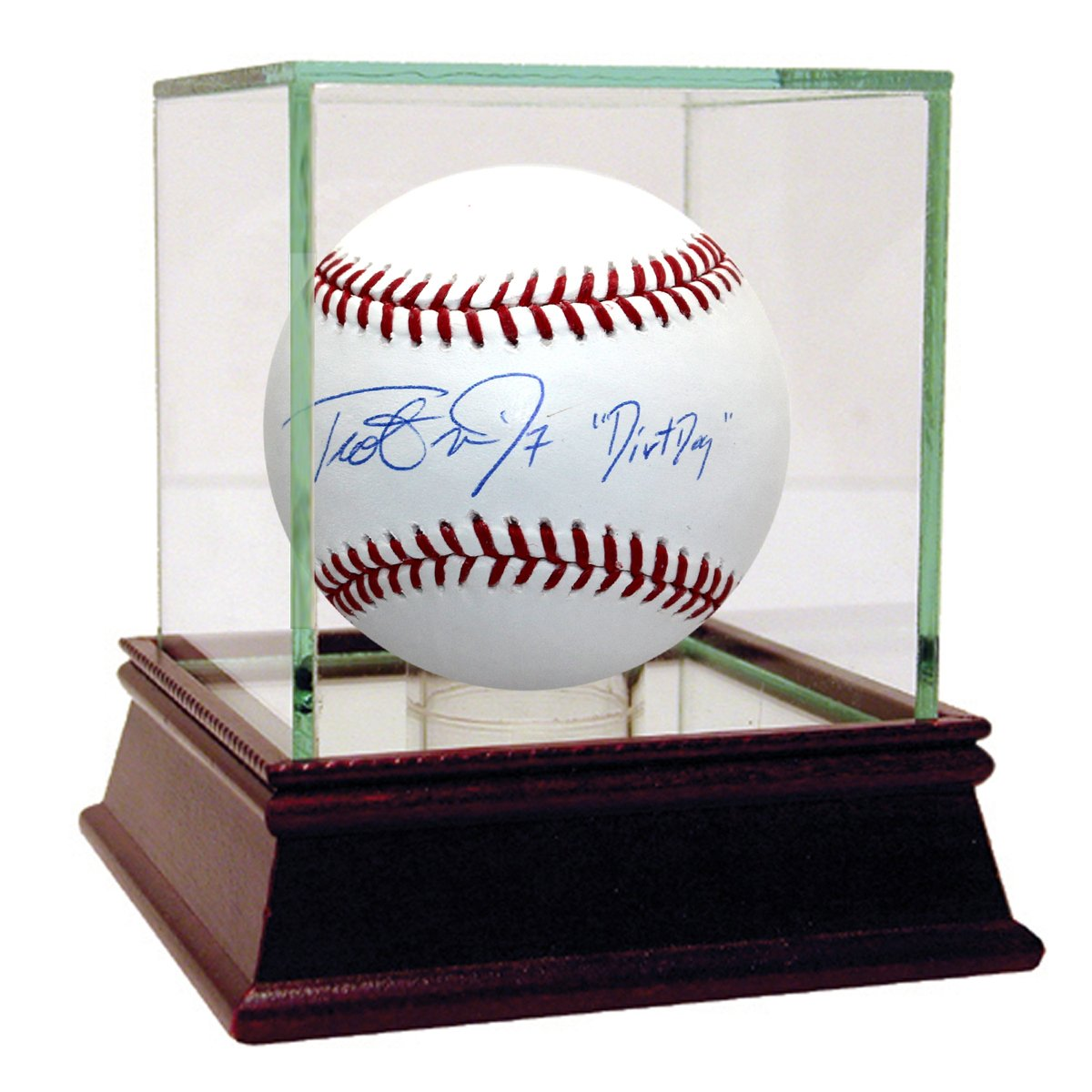 Steiner Sports MLB Boston Red Sox Trot Nixon Signed Baseball with Dirt Dog Inscribed NIXOBAS000005