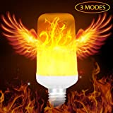 Warmoon LED Flame Effect Light Bulb 3 Modes for Home Decoration, Porch, Yard, Bedroom, Living Room, Night Clubs, Bar -Fire Up